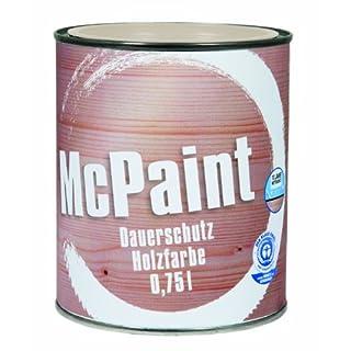 McPaint Wetterschutzfarbe - Holzfarbe für außen auf Acryl Basis mit langanhaltendem Wetterschutz, PU-verstärkt, Möbellack, seidenmatt, 0,750L, Reinweiß - Weitere Farbtöne verfügbar