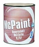 McPaint Wetterschutzfarbe – Holzfarbe für außen auf Acryl Basis mit langanhaltendem Wetterschutz, PU-verstärkt, Möbellack, seidenmatt, 0,750L, Reinweiß - Weitere Farbtöne verfügbar
