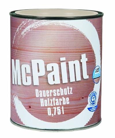 McPaint Dauerschutz Holzfarbe Reinweiß 0,75 Liter