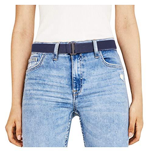 Vintage Western Wear (JasGood Unsichtbare Damen Stretch Gürtel No Show Elastic Einstellbare Web Gürtel Mit Flacher Schnalle Für Jeans Hosen Kleider)