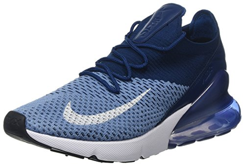 pretty nice f205a d7a92 Nike Air Max 270 Flyknit, Chaussures de Gymnastique Homme, Bleu (Work White