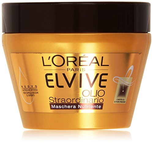 L'Oréal Paris Elvive Olio Straordinario Maschera Nutriente per Capelli Secchi o Spenti, 300 ml