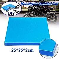 Cojín de asiento de moto Asiento de la motocicleta, almohadilla de gel, amortiguadores, amortiguadores, cojines, accesorios (2CM)