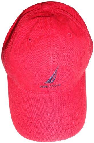 Nautica Men's Hat Ball Cap Red with Logo