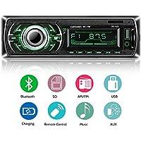 Autoradio Bluetooth ricevitore, ieGeek Lettore MP3 auto, universal autoradio MP3 stereo LCD autoradio lettore con Bluetooth/USB/SD/AUX/FM