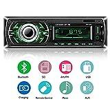 Lettore MP3 auto, ieGeek Autoradio Bluetooth ricevitore, universal autoradio MP3 stereo multi-colore LCD autoradio lettore con Bluetooth/USB/SD/AUX/FM