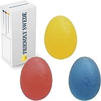 The Friendly Swede 3 Stück Eiförmige Griffbälle - Antistressball, Handtrainer und Fingertrainer mit Unterschiedlichen Härtegraden