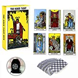X-creative Rider Waite Tarotkarten Deck, Tarot-Deck Vintage 78 Karten Future Telling Cards for Future Telling with Mysterious Bag English Manual
