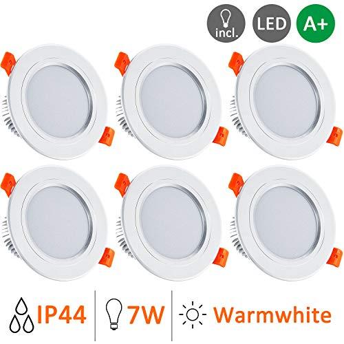 Foco Empotrable LED Redondo, Gr4tec 6 X 7W Downlight Plafón Luz de...