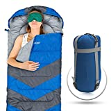Sleeping Bag - Envelope Lightweight Portable, Waterproof, Comfort With Compression Sack - Great For 4 Season Traveling, Camping, Hiking, & Outdoor Activities. (SINGLE) by Abco Tech