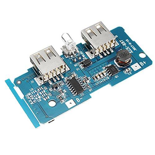 Boost-batterie (MYAMIA 3Stk 3.7 V bis 5V 1A 2A Boost Modul DIY Power Bank Mainboard Leiterplatte in 18650 Lithium-Batterie-Schutz Ic Double USB-Ausgang Über-Strom-Überspannung Unterspannungsschutz Gebaut)