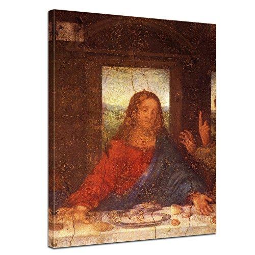 Bilderdepot24 Kunstdruck - Alte Meister - Leonardo da Vinci - Das Abendmahl - Jesus Detail - 50x60cm...