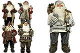 JEMIDI Weihnachtsmann 80cm Deko Nikolaus Santa Clause Figur Groß Weihnachts Deko Holz (Ulf)