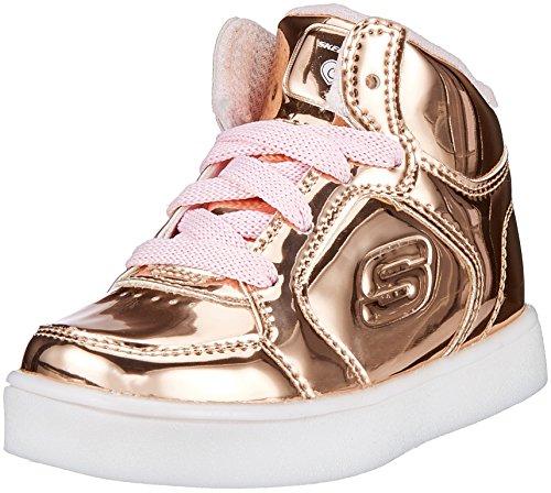 Skechers Baby Mädchen Energy Lights - Lil Dazzle Sneaker Pink (Rose Gold) 22 EU