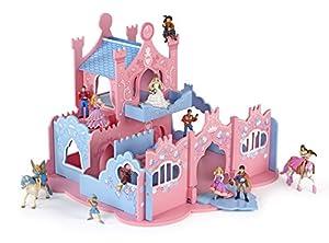 Papo 60150 - Figura de Castillo, Color Azul y Rosa