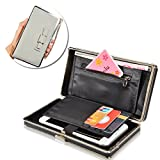 Electronics & Photo : Ladies Purse Wallet,Vandot Universal Women's [Large Capacity] Cell Phone Cover Mobile Phone Bag With Wristlet,Credit Card Slots, Ribbon,Passport Holder,Driving license Folder, Premium Elegant Clutch Pocket Practical Multi-Functional Smartphone Hand Wrist Wallet Pouch Phone Case for iPhone X /8 /8 Plus /7 /7Plus /6S /6S Plus /6 /6Plus /SE /5S, Galaxy S8 Plus /S8/ /A3/A5/A7/J3/J5/J7 2017, Huawei Mate 9/P10/P9/P8 Lite, Sony Xperia XZ/XA, HTC 10, LG K10 /K8 2017 etc. - Updated Bow Tie Knot [GRAY]