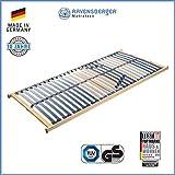 RAVENSBERGER VITA MED 5-Zonen-Schichtholz-Lattenrahmen mit 28 hochelastischen BIRKE-Federholzleisten | Starr | MADE IN GERMANY - 10 JAHRE GARANTIE | TÜV/GS-zertifiziert 80 x 200 cm