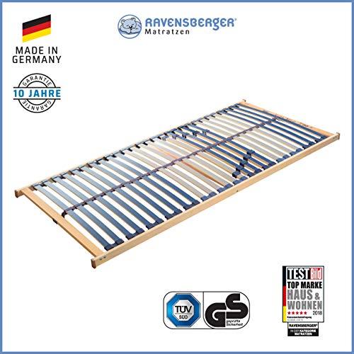 RAVENSBERGER VITA MED 5-Zonen-Schichtholz-Lattenrahmen mit 28 hochelastischen BIRKE-Federholzleisten   Starr   MADE IN GERMANY - 10 JAHRE GARANTIE   TÜV/GS-zertifiziert 80 x 200 cm