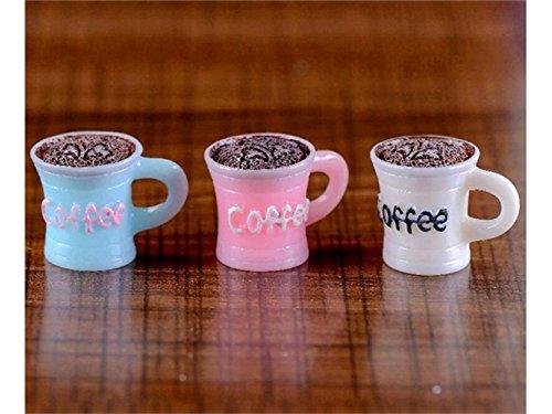 Mikro 1 Stück Miniatur DIY Fee Garten Kaffeetassen Ornament Puppenhaus Dekoration (Gelegentliche Farbe) Landschaftsdekoration