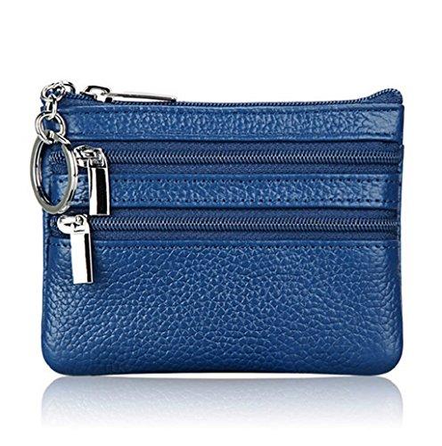 Dairyshop Borsa donna Portafoglio, Borsa di promozione della borsa moneta del cuoio delle donne (Nero) Blu
