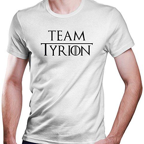 Game of Thrones Team Tyrion Lannister T-Shirt Größe XS-4XL Ideales Geschenk (XXXXL, Weiß)