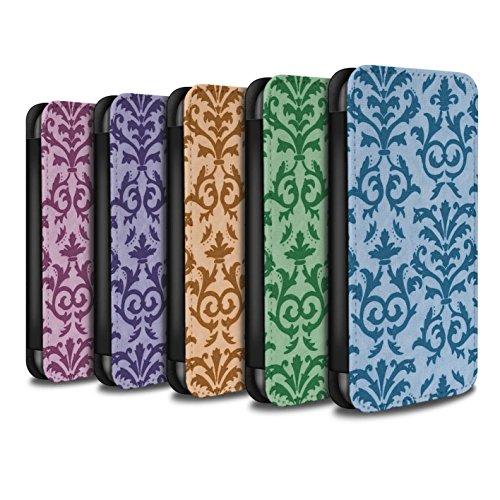 Stuff4 Coque/Etui/Housse Cuir PU Case/Cover pour Apple iPhone SE / Bleu Design / Motif de défilement Collection Pack (7 pcs)