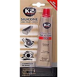 K2 silicone haute température, étanchéité, dichtsi likon, hochtemperaturbeständig à + 350  °C, rouge, 85 g