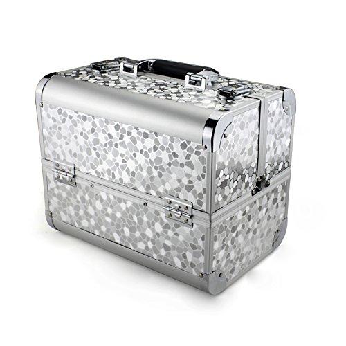 Glow Vanity/ Beauty case/ Maquillage Sac/ Trousse de toilette/ Cosmétique Organisateur (Silver)