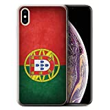Stuff4 Coque Gel TPU de Coque Apple iPhone XS Max/Portugal/Portugais Design/Drapeau Collection