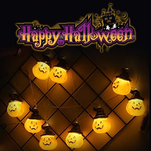 Eqwong halloween 20 luci di fata di zucca luci di stringa, luci di natale luci di stringa a led impermeabili, luci di fata ideale per decorazioni natalizie fai da te, interno