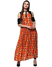 Jashvi Creation Women Stitched Printed Rayon Cotton Anarkali Kurti Kurta (New Styel_Kurti)