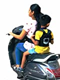 #5: SI Kids Safety Belt For Two Wheeler Front And Back Sitting Puppy Design Black