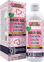 Jadole Naturals Hair Oil for Hair Growth Treatment Strength Length System, Blend of 30 Essential Oils & Na