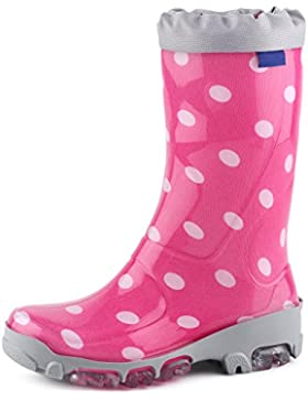 Ladeheid Botas de Agua Goma Zapatos de Seguridad Unisex Niños LARB015
