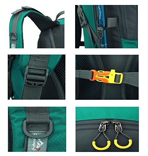 Oxford Wander-Rucksack Outdoor Sports Multifunktions Lightweight Portable Bergsteigen Camping reisen ritt Schultern Tasche 40L Pack H52 x L30 x T18 cm Black