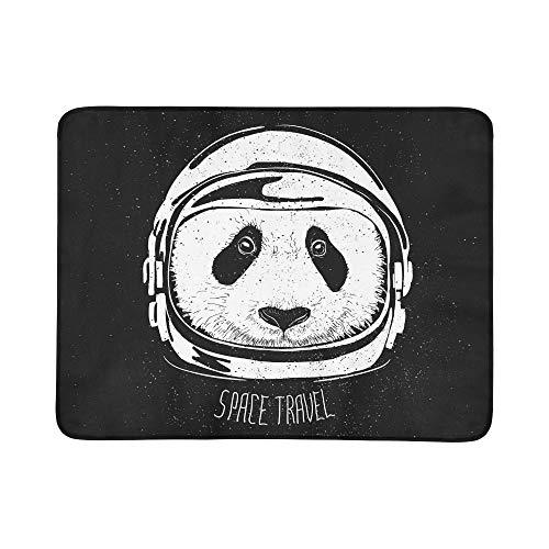 KAOROU Space Helm Panda Muster Tragbare Und Faltbare Deckenmatte 60x78 Zoll Handliche Matte Für Camping Picknick Strand Indoor Outdoor Reise