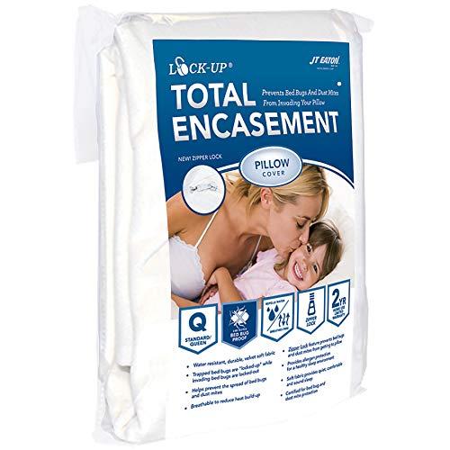 JT Eaton 82stqupil sicherheitsboxen Total umgreifung Bettwanzen Schutz für Standard- oder Queen Size Kissen Cover