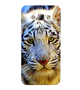 EPICCASE White tiger cuteness Mobile Back Case Cover For Samsung Galaxy A3 (Designer Case)