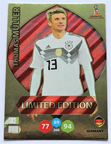 Panini Adrenalyn XL WM 2018 Russland - Müller Deutschland Karte limited Edition (Wm-karten Limited Edition)