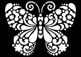 Schablone Wandschablone Motiv Schmetterling lasergeschnitten DIN A4 Kunststoff