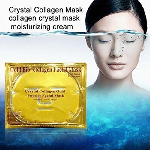 5Pack oro Colágeno Máscara de colágeno Crystal-Anti envejecimiento, arrugas, Hidratante, imperfecciones, Firming, tonificación, ojeras, suavizado de piel, natural Lift, cuidado de la piel
