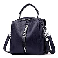 TnXan Backpack Female Leather Women Backpack Sac A Dos School Bag for Girls Leisure Shoulder Bags for Women Mochila Water-Resistant Casual Daypacks