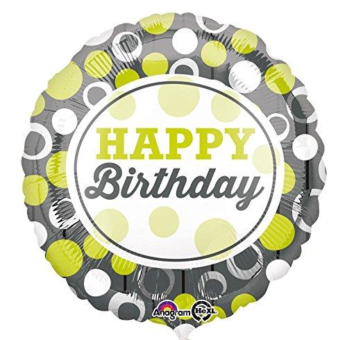 Amscan Folienballon Happy Birthday Kreise