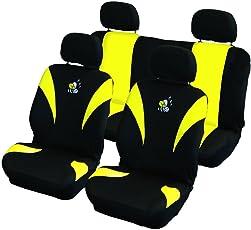 Carpoint 0310130 Schonbezug Satz 8-teilig 'Biene' Airbag