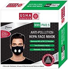 Usha Shriram FRESCO N99 PM2.5 HEPA Anti Pollution Face Mask (Pack of 1) Air Mask