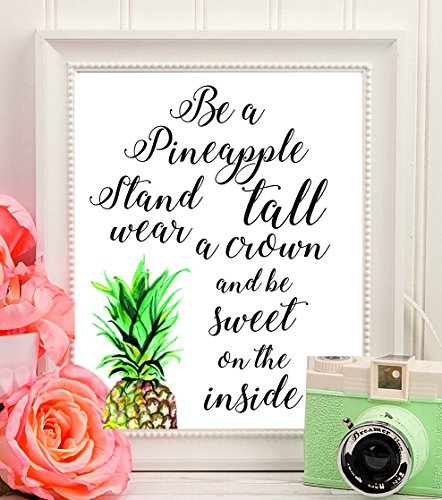 Funny Zitate Wand decor-funny Zitate poster-funny Zitat decor-inspirational Zitat Personalisierte Hochzeit gifts-anniversary gift-bridal Dusche gifts-brave Mädchen gifts-wall art-pineapple Geschenke