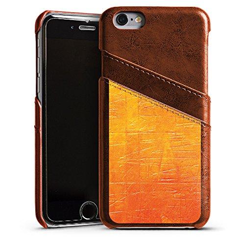 Apple iPhone 5s Housse Étui Protection Coque Egratignure Structure Peinture Étui en cuir marron