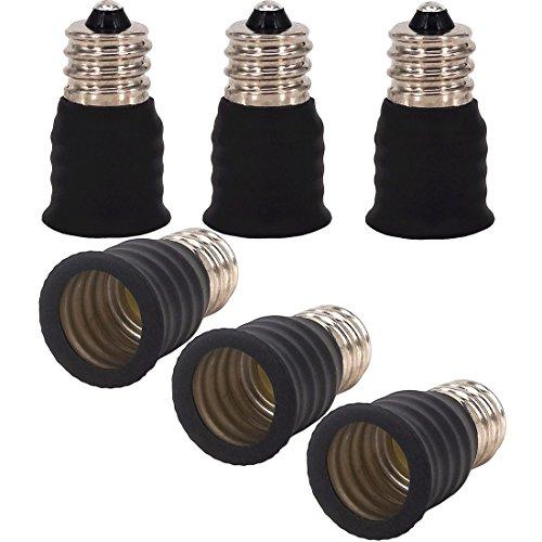 capolida 6pcs E12 à E14 ampoule lampe Base Socket Lampe Adaptateur Convertisseur Support pour convertisseur, LED culot de lampe adaptateur