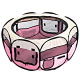 CellDeal Folding Fabric Pet Play Pen Puppy Dog Cat Rabbit Guinea Pig Playpen Run Cage Hot Pink