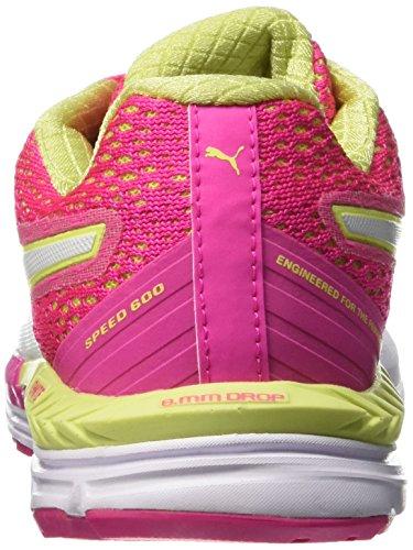 Puma Speed 600 Ignite, Running Femme Rose (Pink Glo/Sharp Green/White)